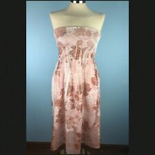 Lapis One Size Peach Pink Dress Tube Strapless