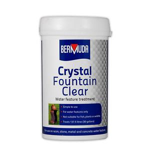 BERMUDA CRYSTAL FOUNTAIN CLEAR 385G WATER FEATURE POND TREATMENT CLEAR ALGAE