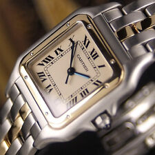 Authentic Panthere De Cartier Date 18K Solid Yellow Gold Quartz Mens Watch