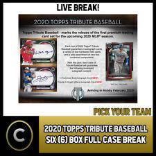 2020 TOPPS TRIBUTE BASEBALL 6 BOX (FULL CASE) BREAK #A780 - PICK YOUR TEAM