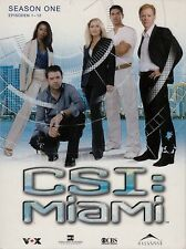 CSI: MIAMI - SEASON ONE - EPISODEN 1-12 / 3 DVD-SET - TOP-ZUSTAND