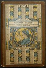 Almanach Hachette 1931 - Edition Complète