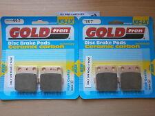 HONDA TRX 300 (2001) TRX300 > (OFF-ROAD) SINTERED FRONT BRAKE PADS *GOLDFREN*