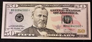 2013 $50 Federal Reserve Star Note B* New York City FRN Crisp Uncirculated