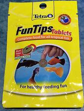 Tetra funtips 20 Tabletas Pegar En Vidrio peces tratar Completa Oblea alimentos Acuario