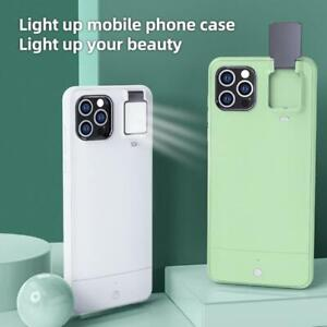 Phone Case For iPhone 12 11Pro XS Max 7 8 Smart Fill Light LED Flash Selfie Live