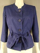 Linen Patternless Button Coats & Jackets for Women
