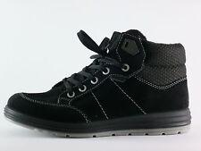 Ricosta tex Bayo garçons sneaker 36 Noir Cuir Chaussures basses moyens NEUF