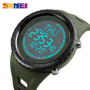 SKMEI Men's Digital Watch 50m Waterproof Compass Outdoor Sport Wristwatch 1342