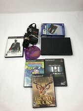 Sony PS2 PlayStation 2 Slim Console Bundle With 5 Games & 1 Controller , Tested!