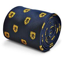 Cravatta da Uomo Navy con Leone Scozzese sul modello Scudo Da Frederick Thomas ft3228