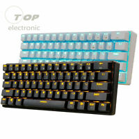 RK61 Bluetooth Wired Dual Mode 60% RGB Mechanical Gaming PC Keyboard