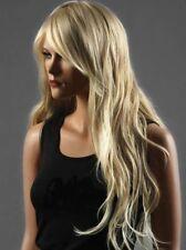 Long Ladies Womens Wig Like Real Natural Hair Wave Curly Blonde wig