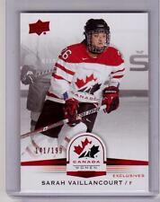 SARAH VAILLANCOURT 14/15 Upper Deck Womens Team Canada Juniors Exclusives #67