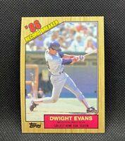1987 Topps Record Breaker DWIGHT EVANS #3 - Boston Red Sox - MINT