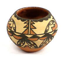 Vintage Native American Jemez Polychrome Pottery Bowl by Virginia ChinanaDw #101