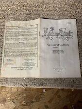 Original Midway Addams Family Handbook Pinball game manual