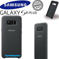 COVER CUSTODIA SILICONE ORIGINALE SAMSUNG PER GALAXY S8 PLUS SM-G955 NERO GREY
