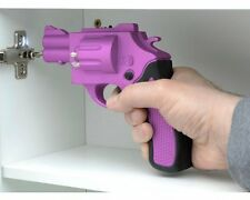 Gun Power Shaped Screwdriver With 6 Different Size Drill Bits Pink