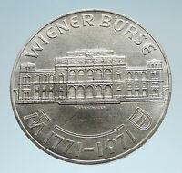 1971 AUSTRIA VIENNA WIENER BOURSE Stock Exchange Silver 25 Schilling Coin i75208