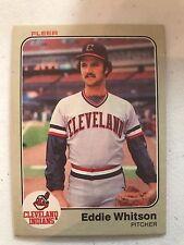 1983 Fleer Eddie Whitson Cleveland Indians 423
