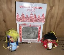Steinbach Wooden Christmas Ornaments Lot of 2