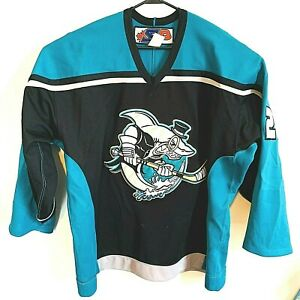 Cleveland Barons AHL 2001-2002  Logo Sharks Affiliate Ryan Gillis Jersey Pro 54