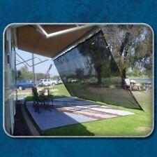 RV Roller Awning Shade Screen Kit Camper Motorhome Travel Sun Heat Block Protect