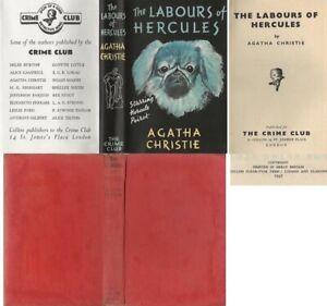 Agatha Christie  THE LABOURS OF HERCULES  1st w/fdj 1947 Collins Crime Club