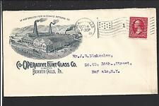 "BEAVER FALLS, PENNSYLVANIA COVER. FACTORY ADVT: ""CO-OPERATIVE FUNT GLASS CO""."