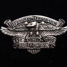 HARLEY DAVIDSON *****EAGLE WITH BANNER AND SHIELD ***  PEWTER PIN  BEAUTIFUL