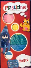 Plasticine 6 Colour Childrens Modelling Clay BaSix Never Dries Out Fast Dispatch
