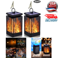 NEW 2 Pack Solar Lantern Lights Outdoor Hanging Flickering Flame,Waterproof,LED!