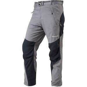 Montane Mens Terra Walking Hiking Pants Trousers - Regular Leg - Graphite