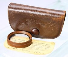 EARLY ROLLEIFLEX PROXAR FILTER 2X28.5 CARL ZEISS SLIP ON W/ LEATHER CASE