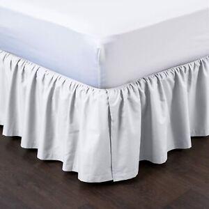 Detachable Ruffled Bedskirt, Easy on/Easy Off Ruffled Bed Skirt- Blissford
