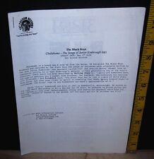 BLACK KEYS original press kit 2006 Fat Possum Records promo Chulahoma sheets