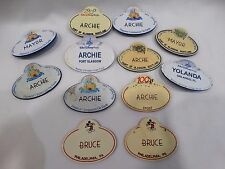 Walt Disney World Cast Member Name Tags Bruce Archie Yolanda