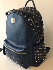 AUTHENTIC MCM Backpack BLUE and Chrome Never Worn LIMITED EDITION.  RRP £1250