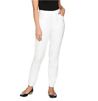 Denim & Co. Regular Classic Waist Stretch Jeggings - White - Medium