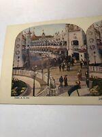 Vintage 1925 Luna Park Coney Island New York City Stereoview Card