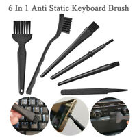 6-In-1 Black Anti-static Brush Portable Handle Brush Cleaning Keyboard Brush Kit