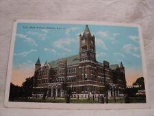 MONROE LA Louisiana City High School early 1900's  Postcard