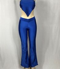 Zuliana Vintage Metallic Blue Pant Set