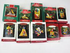 New 10 Hallmark Christmas Ornaments Crayola Crayon Keepsake Series 1989 - 1998
