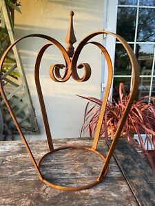 Wrought iron crown (small) - decorative garden feature!
