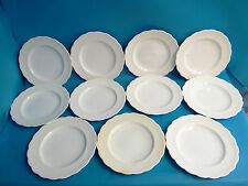 Matching Set 11 Vintage Used White Minton RT Rope Border Dinner Plates