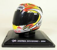 Altaya 1/5 Scale Andrea Dovizioso 2004 Shoei Moto GP Helmet with Plinth and Case