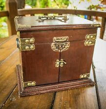 Vintage - Jewellery Box - Swing Open Doors - 2 Draws - Rare & Unique
