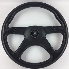 Nardi Gara 365mm 4 spoke black leather steering wheel. Genuine. Classic bargain